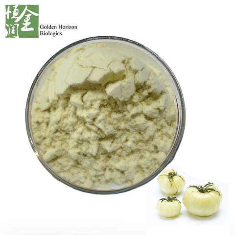GMP Hot Selling White Tomato Crystal Tomato Extract Powder Colorless Carotenoids for Whitening