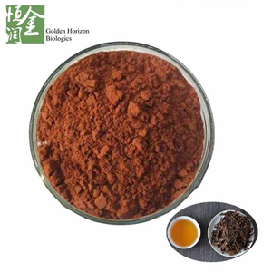 100% Natural Red Leaves Powder Theaflavin Bulk Organic Black Tea Extract