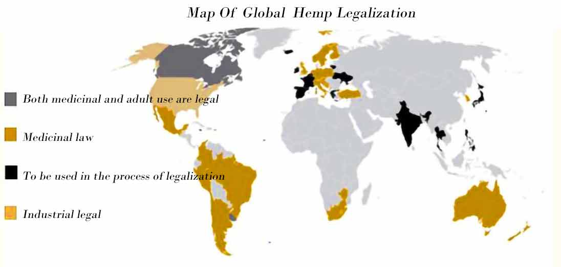 Map Of Global Hemp Legalization